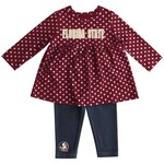 Colosseum Athletics Infant Girls' Florida State University Shining Polka Dot Dress Set