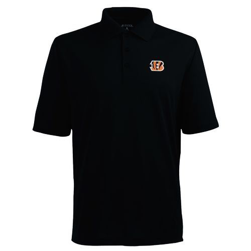 Antigua Men's Cincinnati Bengals Piqué Xtra-Lite Polo Shirt