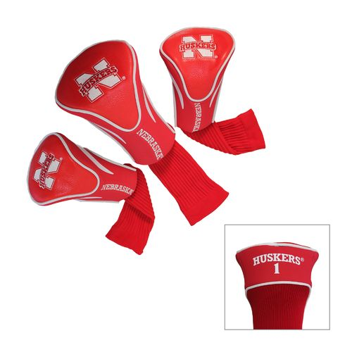Team Golf University of Nebraska-Lincoln Contour Sock Head Covers 3-Pack