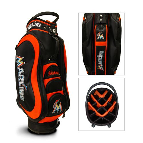Team Golf Miami Marlins Medalist 14-Way Cart Golf Bag