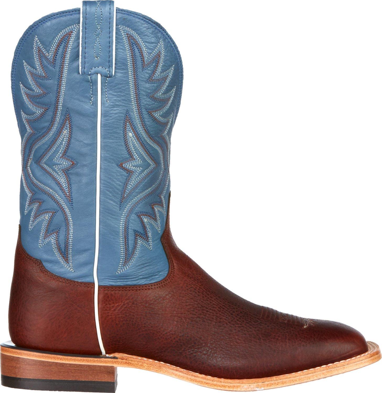 Tony Lama Men's Pecan Bison Americana Western Boots