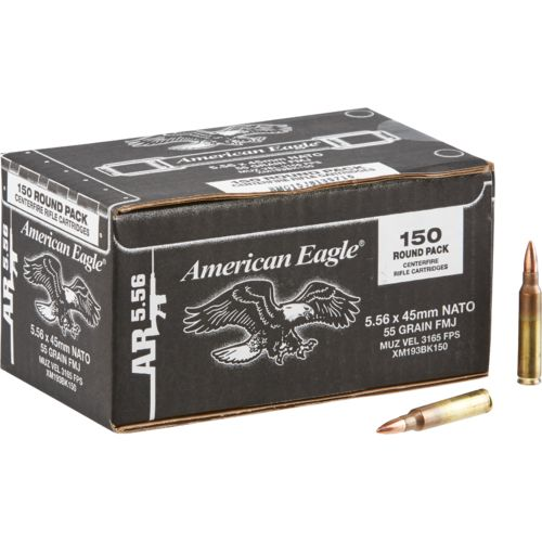 American Eagle® 5.56 x 45mm 55-Grain Full Metal Jacket Centerfire Rifle Ammunition