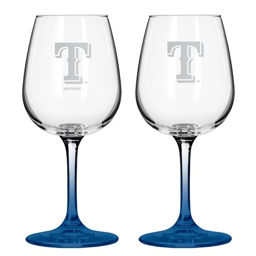 Boelter Brands Texas Rangers 12 oz. Wine Glasses 2-Pack