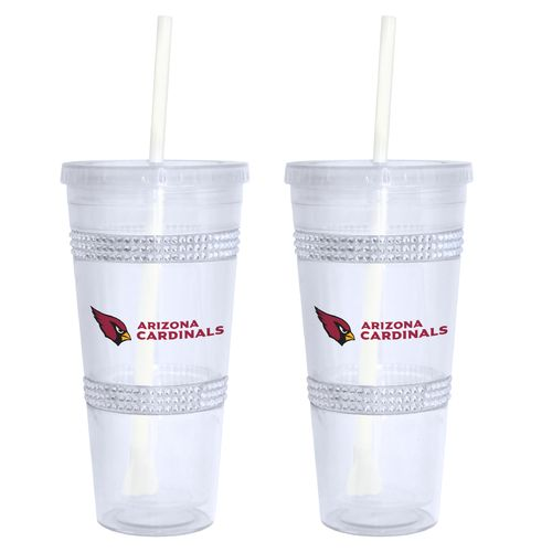Boelter Brands Arizona Cardinals 22 oz. Bling Straw Tumblers 2-Pack