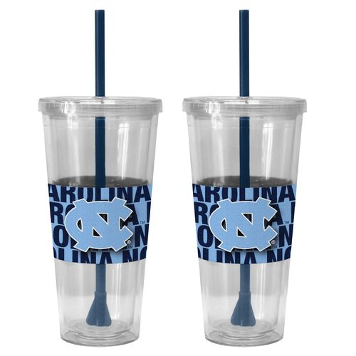 Boelter Brands University of North Carolina Bold Neo Sleeve 22 oz. Straw Tumblers 2-Pack
