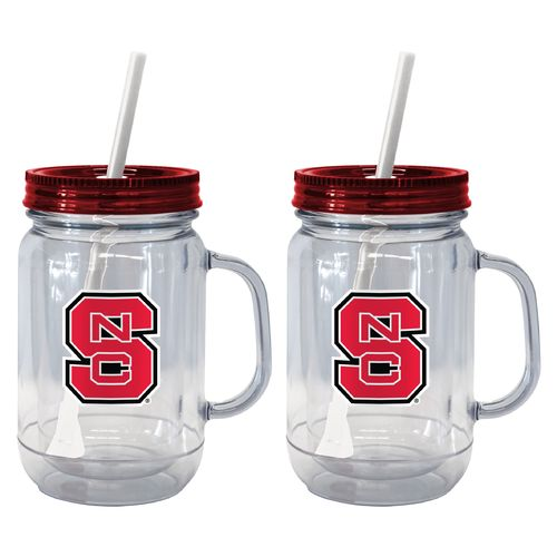 Boelter Brands North Carolina State University 20 oz. Handled Straw Tumblers 2-Pack - view number 1