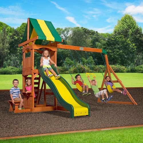 Backyard Discovery™ Weston Wooden Swing Set - view number 2