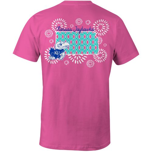 Image One Women's University of Kansas Fireworks Comfort Color T-shirt
