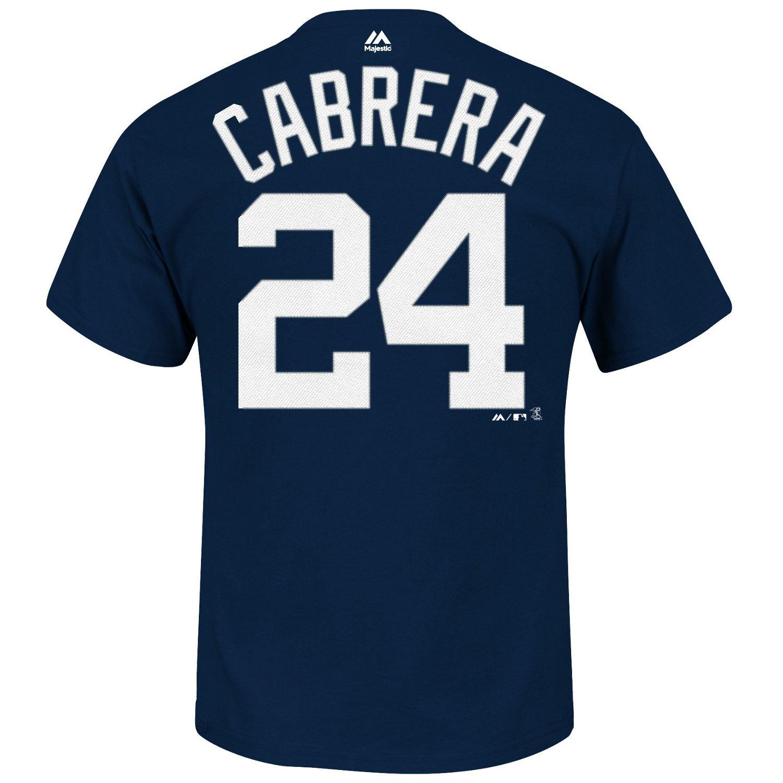 New Majestic Men's Detroit Tigers Miguel Cabrera #24 T-shirt