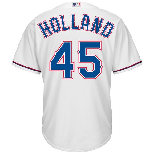 Majestic Men's Texas Rangers Derek Holland #45 Cool Base Replica Jersey