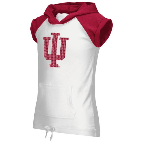 Colosseum Athletics Girls' Indiana University Jewel Short Sleeve Hoodie