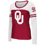 Colosseum Athletics™ Women's University of Oklahoma Hornet Football Long Sleeve T-shirt