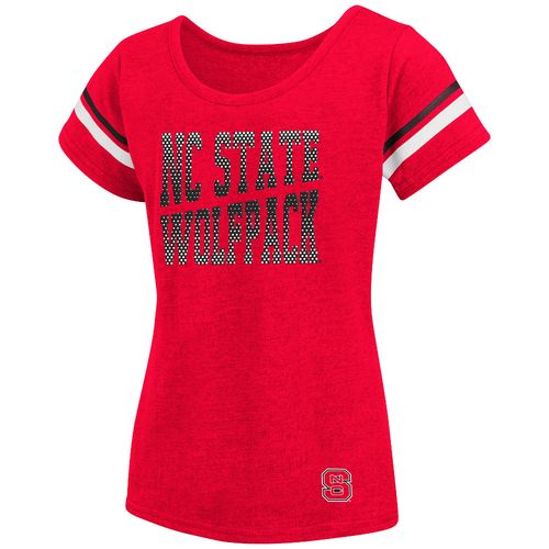 Colosseum Athletics™ Girls' North Carolina State University Fading Dot T-shirt