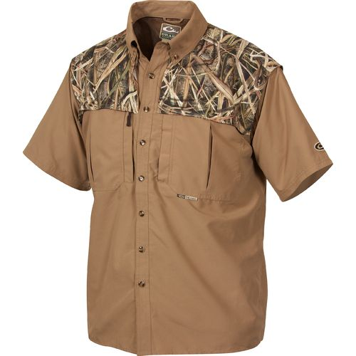 Drake Waterfowl Men's 2-Tone Vented Wingshooter's Short Sleeve Shirt