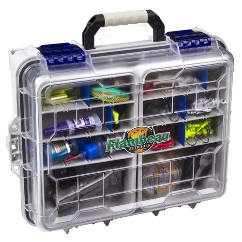 Display product reviews for Flambeau Waterproof Satchel Tackle Box