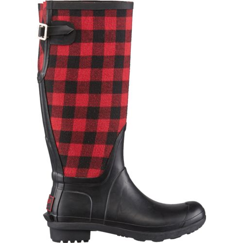 "Display product reviews for Austin Trading Co.™ Women's 16"" Buffalo Plaid Boots"