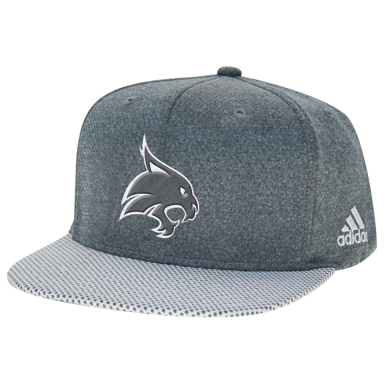 adidas™ Men's Texas State University Flat Brim Snapback Cap