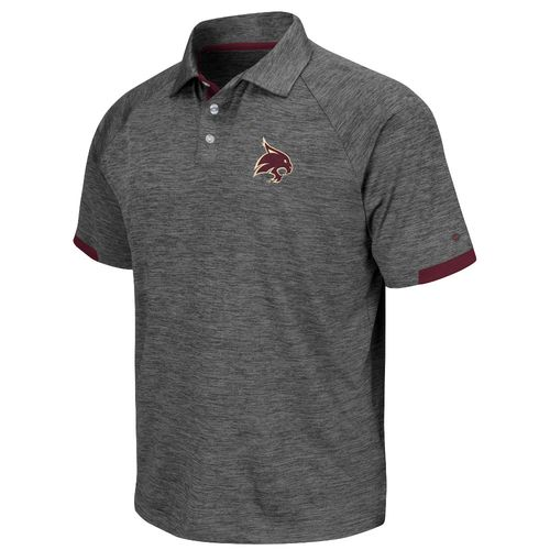 Colosseum Athletics Men's Texas State University Spiral Short Sleeve Polo Shirt