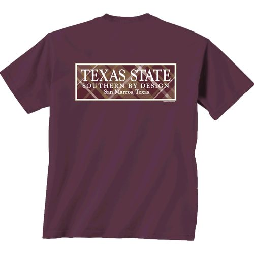New World Graphics Women's Texas State University Madras T-shirt