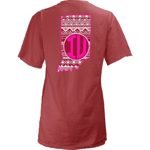 Three Squared Juniors' Indiana University Moonface T-shirt