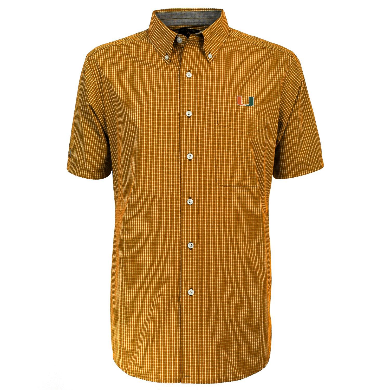 Antigua Men's University of Miami League Short Sleeve Shirt - view number 2