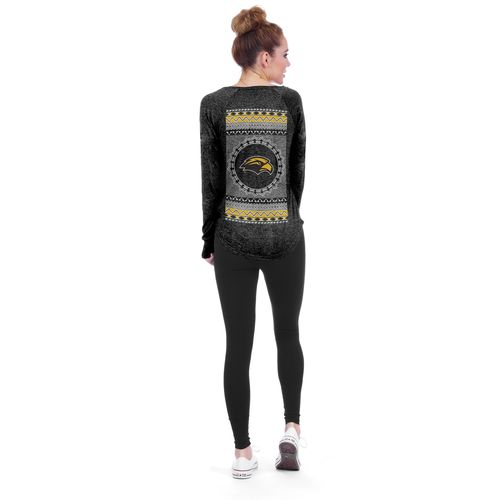 Chicka-d Women's University of Southern Mississippi Favorite V-neck Long Sleeve T-shirt