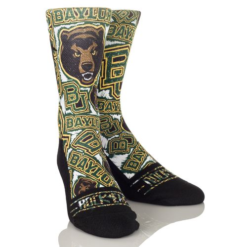 Rock 'Em Apparel Men's Baylor University Logo Sketch Socks