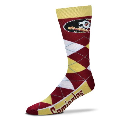 For Bare Feet Adults' Florida State University Team Pride Flag Top Dress Socks