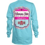 Three Squared Juniors' Arkansas State University Paisley Frame Long Sleeve Shirt