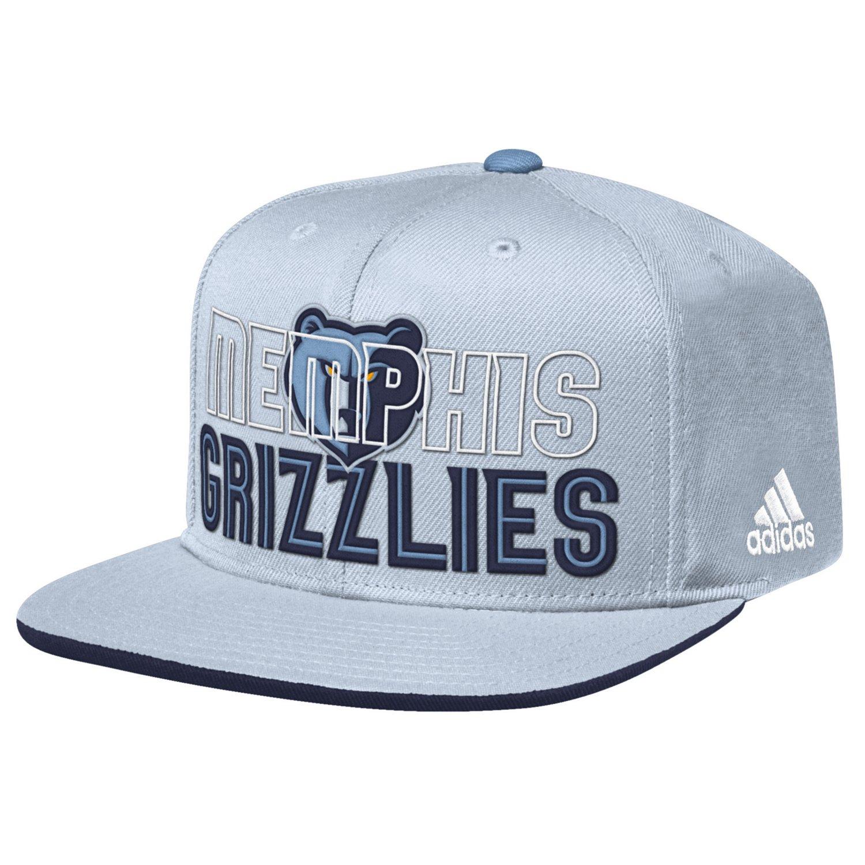 adidas™ Men's Memphis Grizzlies Flat Brim Snapback Cap
