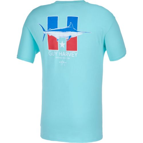 Guy Harvey Men's H is for Harvey Pocket T-shirt