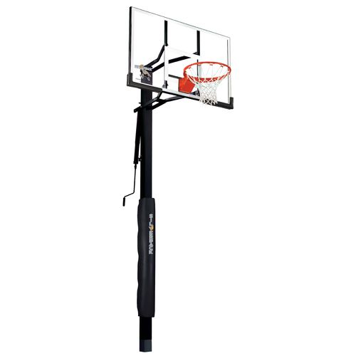 Silverback 54 in Inground Tempered-Glass Basketball Hoop