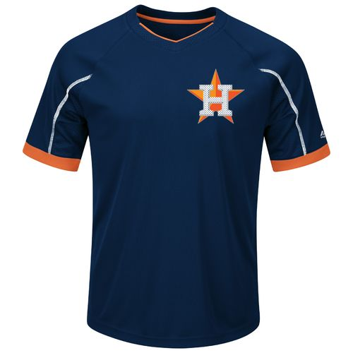 Majestic Men's Houston Astros Emergence V-neck T-shirt