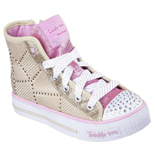 SKECHERS Girls' Twinkle Toes Shuffles Dazzle Dancing Shoes