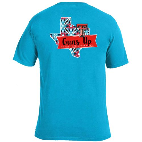 Image One Women's Texas Tech University Pattern Scroll State T-shirt