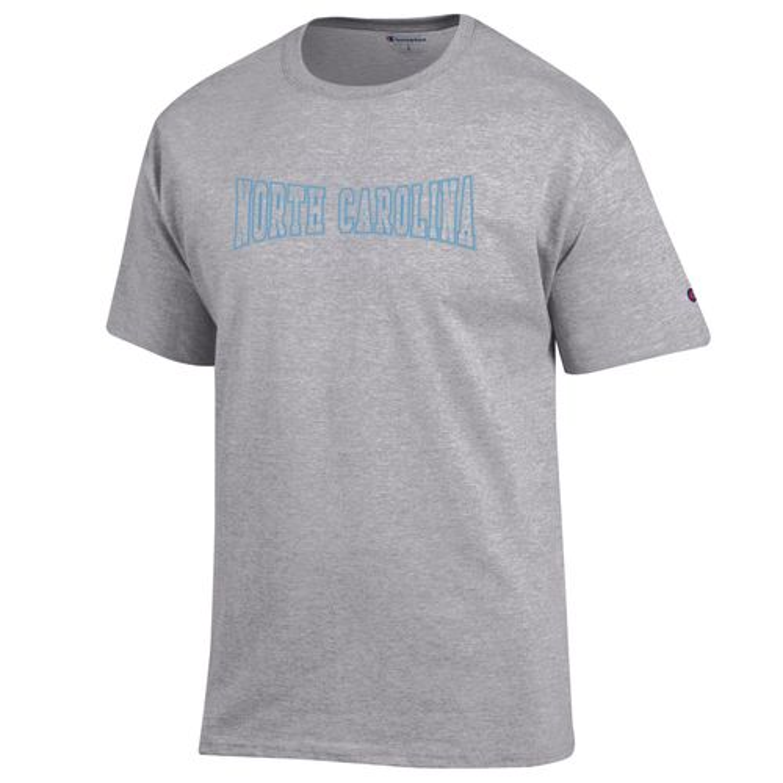 Champion men 39 s university of north carolina t shirt academy for University of north carolina t shirts
