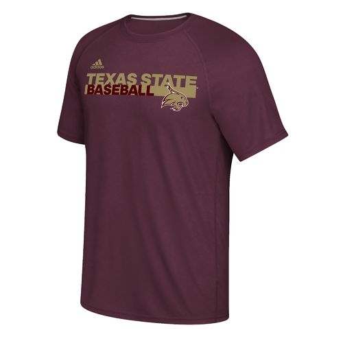 adidas Men's Texas State University Sideline Baseball Grind Ultimate T-shirt
