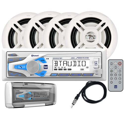 Display product reviews for Dual 200W Digital Media Marine Receiver with Four 6-1/2 in Speakers