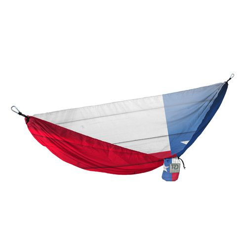 Twisted Root Design Twisted Print Texas Wood Flag Hammock