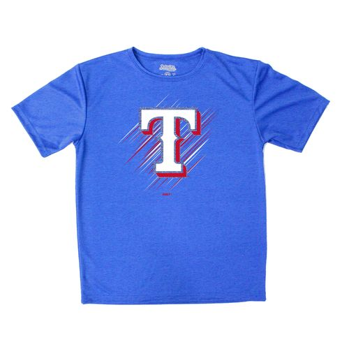 Stitches Boys' Texas Rangers Sidewinder Short Sleeve T-shirt