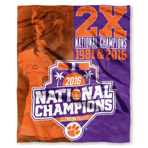 The Northwest Company Clemson University 2016 National Champions Silk Touch Throw
