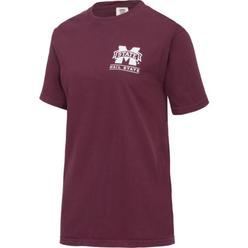 New World Graphics Women's Mississippi State University Comfort Color Puff Arch T-shirt - view number 4