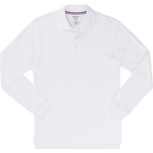 French Toast Boys' Long Sleeve Interlock Polo Shirt