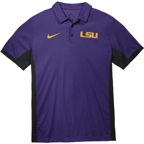 Nike Men's Louisiana State University Dri-FIT Evergreen Polo Shirt - view number 3