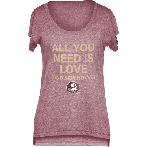 Chicka-d Women's Florida State University Scoop-Neck T-shirt