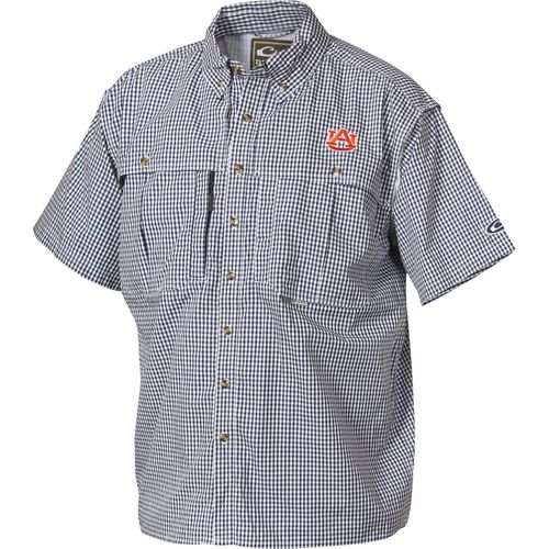 Drake Waterfowl Men's Auburn University Gameday Wingshooter's Short Sleeve Button-Down Shirt