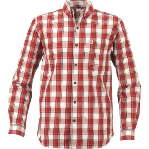 Carhartt Men's Essential Plaid Button Down Long Sleeve Shirt