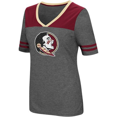Colosseum Athletics Women's Florida State University Twist V-neck 2.3 T-shirt