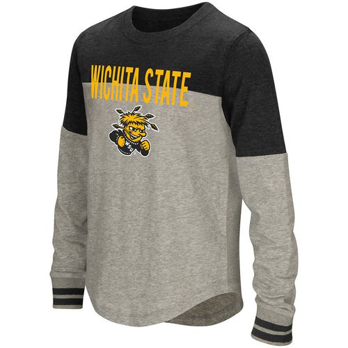 Colosseum Athletics Girls' Wichita State University Baton Long Sleeve T-shirt