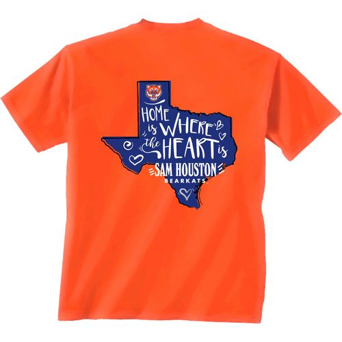Display product reviews for New World Graphics Girls' Sam Houston State University Where the Heart Is Short Sleeve T-shirt
